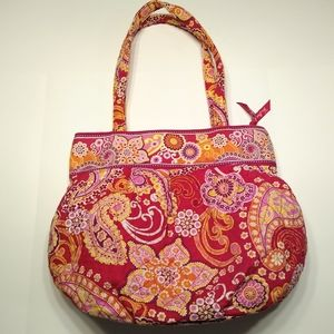 Vera Bradley raspberry fizz shoulder bag/purse